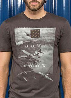 Camiseta Meia Malha Estampada (Marrom) Hangar 33