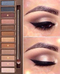 Beautiful makeup look using the Urban Decay NAKED palette. Kiss Makeup, Love Makeup, Makeup Inspo, Makeup Inspiration, Makeup Tips, Makeup Tutorials, Makeup Ideas, Makeup Quiz, Buy Makeup