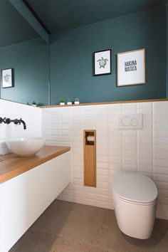 Inspired by - Modern Upstairs Bathrooms, Downstairs Bathroom, Laundry In Bathroom, Dream Bathrooms, Small Bathroom, Small Downstairs Toilet, Small Toilet Room, Bad Inspiration, Bathroom Inspiration