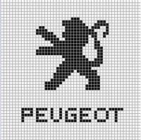 Peugeot logo x-stitch Peugeot, Pixel Art Logo, Plastic Bead Crafts, Tapestry Crochet Patterns, Beading Tools, Beadwork Designs, Minecraft Pixel Art, Charts And Graphs, C2c