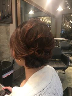 Updo by me. Wedding hair