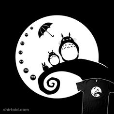 """Totoro Before Christmas"" by sirwatson. Mash-up of Totoro and The Nightmare Before Christmas"