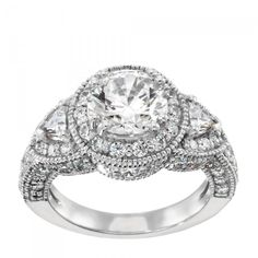 Over 2.5 total carats in this baby and its under 2000.00....I love lab made diamonds!