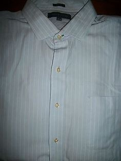 Tommy Hilfiger Men's Size XL 17.5 34-35 Long Sleeve Button Front Shirt W/Pocket