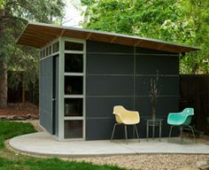 Studio shed louisville co usa modern prefab backyard for Build your own garden office