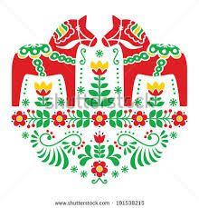 scandinavian christmas symbols patterns traditional - Google Search