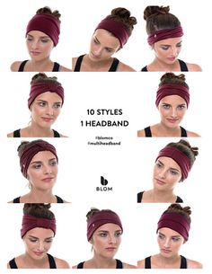I need one of these. BLOM Multi-Style Headband for Sports or Fashion