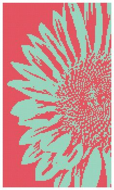 Pop Art Sunflower a Counted Cross Stitch by WooHooCrossStitch