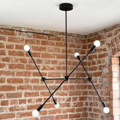 Illuminate Vintage Industrial 6-Light Sputnik Chandelier