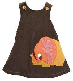 "Decaf Plush ""Elephant"" A-Line Dress"