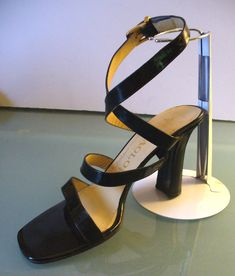 Vintage Made in Italy Maraolo Patent Leather Strappy Heels size 8 by EurotrashItaly on Etsy