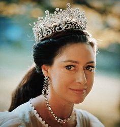 Princess Margaret wears the Poltimore Tiara