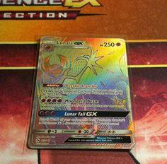 Lunala GX Hyper Rare Sun and Moon Pokemon Card NM