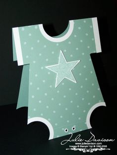 Julie's Stamping Spot -- Stampin' Up! Project Ideas Posted Daily: Onesie Card