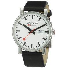 Mondaine A627.30303.11SBB - Reloj de caballero de cuarzo, correa de piel color negro: Amazon.es: Relojes $130