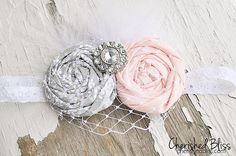 Cherished Bliss: How to make Baby Headband Tutorial: An adorable tutorial on making this vintage inspired headband! #tutorial