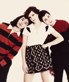 Emma Watson, Logan Lerman and Ezra Miller