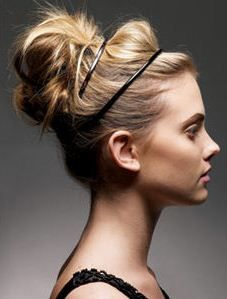 High Messy Bun with Headband