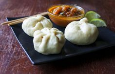 Veggie Dumplings with Tomato Chutney Dipping Sauce