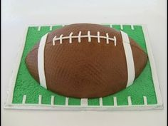 How to Decorate a Football Cake | If you are looking for s show stopper at your Super Bowl party, this football cake might just be it. @#desserts #baking #cake