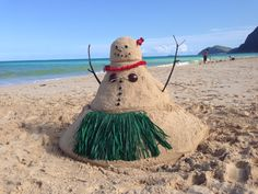 No snow, no problem! Sandman it is... Aloha! Need a gift while visiting the islands? Check us out www.tikimaster.com - Mahalo!