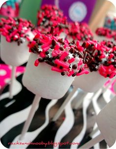 Rock Star Marshmallows can be done in colors that match your theme.