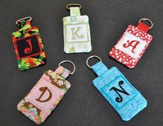4x4 Quilted Monogram Pocket Keychain from Five Star Fonts
