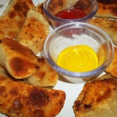 I make these yummy dumplings for my son. If you love cheeseburgers, you will love these. Don't be intimidated with the home made dumplings, the are so easy to make. So much better than store bought. his dough can also be used to make pot stickers.  When I make these I double the batch and freeze. I just re - heat on a baking sheet  Enjoy!  My photos