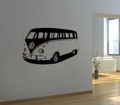 VW camper wall print