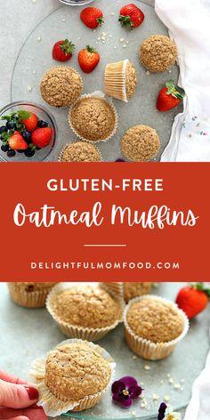 Gluten Free Waffles, Gluten Free Oatmeal, Gluten Free Recipes For Breakfast, Healthy Gluten Free Recipes, Gluten Free Snacks, Free Breakfast, Gluten Free Baking, Dinner Recipes, Healthy Baking