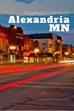 Alexandria, MN, is Minnesota's first resort region and a prime spot for a weekend getaway. Enjoy the lake at a historic waterfront resort, head to town for dining and antique shopping, golf or play at a waterpark.
