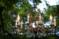 Choose from our Chandeliers to add a touch of elegance to your outdoor wedding