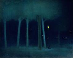 József Rippl-Rónai (1861–1927) A Park at Night, 1895