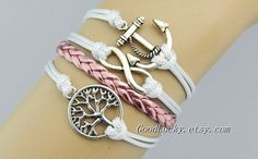 Wish tree braceletinfinity braceletanchor by charmjewelrybracelet, $9.99