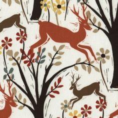 Dear Stella House Designer - Woodwinked - Woodland Deer in Bone