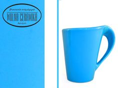 Blue cup.