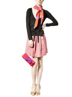 Cardigan and shoes Red Valentino, foulard and skirt sonia by Sonia Rykiel, bag Noemi B.❤