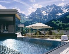 The Cambrian Hotel Switzerland infinity pool