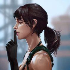 Quiet Fan art - Metal Gear Solid V The Phantom Pain #ThePhantomPain #MetalGearSolidV #DiamondDogs #MGSV #MetalGearSolid #Quiet #Fanart