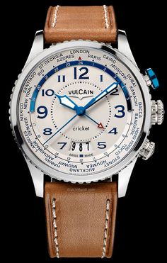 Vulcain - Aviator Cricket. Graphically based on the 2014 model but with the addition of a V-11 manufacture alarm movement.
