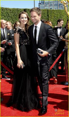 Troian Bellisario & Patrick J. Adams at the Creative Emmys 16th August 2014.
