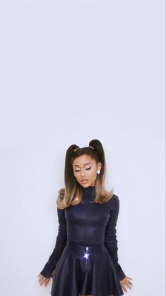 Ariana Grande Wallpaper, My Girl, High Neck Dress, Dresses With Sleeves, Long Sleeve, Wallpapers, Iphone, Girls, Fashion