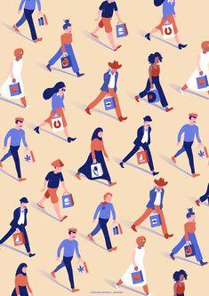 Fashion Illustration Design Dutch Marketing Abroad on Behance Travel Illustration, Flat Illustration, Pattern Illustration, Character Illustration, Graphic Design Illustration, Digital Illustration, Graphic Design Pattern, Design Art, Flat Design