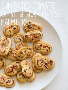 Sun-dried tomato, olive, and goat cheese palmiers-- Spoonforkbacon.com