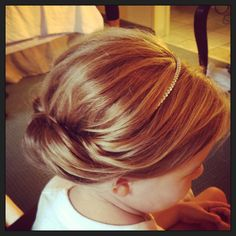 Bridal hair #girl #flowergirl #wedding