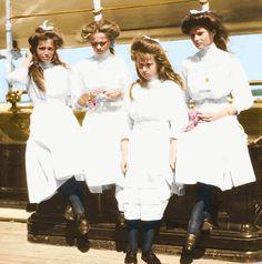 OTMA left to right: Maria, Olga, Anastasia, and Tatiana Romanov.