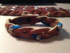 "Leather ""Mystery Braid"" Bracelet, $10.00"