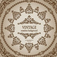 Seamless Vintage Floral Pattern Background Vector