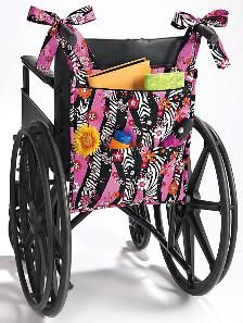 I would love to have this for my wheelchair.  Unfortunately the .org isn't there now. bag on a wheelchair