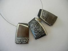 """""""Greek Lace"""" - polymer clay necklace by Sonya Girodon."""